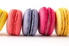 Set kolorowi macaroons odizolowywający na białym tle Słodcy macaroons Obraz Stock