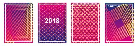 Set kolorowi minimalizmów tła ilustracja wektor