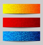 Set Kolorowi piksli sztandary Obraz Stock