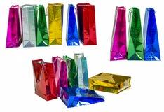 Set Kolorowi Puści torba na zakupy Fotografia Stock