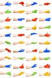 Set kolorowi ręka gesty Obraz Royalty Free