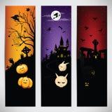 Set kolorowi sztandary na Halloween Ilustracji