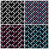 Set kolorowi wektorów wzory z kropkami ilustracja wektor