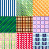 Set kolorowi wzory Obrazy Royalty Free
