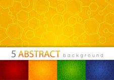 Set 5 kolorowy abstrakcjonistyczny medyczny tło Zdjęcie Royalty Free