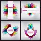 Set Kolorowy Abstrakcjonistyczny składu tło Fotografia Royalty Free