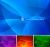 Kolorowy Abstrakcjonistyczny tła część 2 - (1) Obrazy Stock