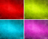 Set poligonalni tła 3 Zdjęcie Royalty Free