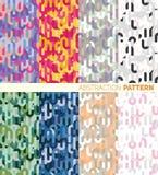 Set kolorowy abstrakta wzór Obrazy Stock