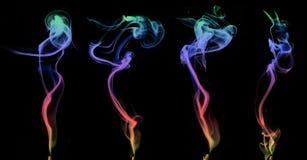 Set kolorowy dym Zdjęcie Royalty Free