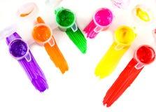 Set kolorowy farby zakończenie Obraz Stock