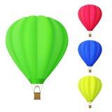 Set kolorowy gorące powietrze balon Zdjęcie Stock