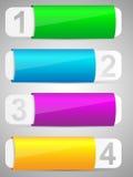 Set kolorowy opcja sztandaru szablon. Zdjęcie Royalty Free
