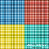 Set kolorowy szkocka krata wzór również zwrócić corel ilustracji wektora Fotografia Royalty Free