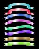 Set kolorowy tasiemkowy kolekci 3d skutek z miejscem dla teksta ilustracji