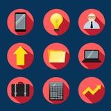 Set koloru biznesu ikony Zdjęcia Stock