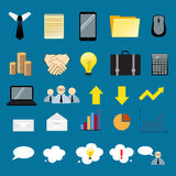 Set koloru biznesu ikony Obrazy Stock