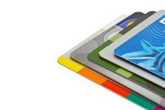 Set koloru kredyta karty odizolowywać Obraz Royalty Free