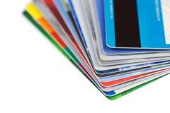 Set koloru kredyta karty odizolowywać Zdjęcia Stock