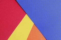 Set koloru krepdeszynowego papieru zakończenie up Obraz Stock