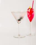 Set koloru napój, różni kształty szkła, napoju set Fotografia Royalty Free