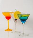 Set koloru napój, różni kształty szkła, napoju set Obrazy Royalty Free