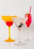 Set koloru napój, różni kształty szkła, napoju set Obraz Royalty Free