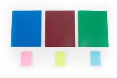 Set koloru notatnik Obrazy Royalty Free