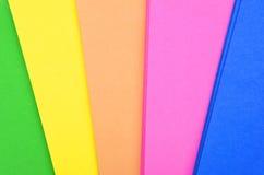 Set koloru papier Fotografia Stock