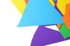 Set koloru papieru zakończenie up Zdjęcia Stock
