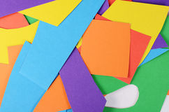 Set koloru papieru zakończenie up Zdjęcia Royalty Free