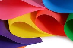 Set koloru papieru zakończenie up Obraz Royalty Free