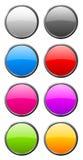 Set kolory zaokrąglający szkło guziki Zdjęcia Royalty Free