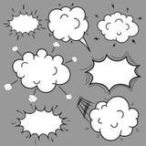 Set Komiczna mowa Gulgocze kreskówkę, Puste dialog chmury w wystrzał sztuki stylu royalty ilustracja
