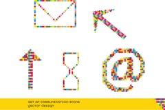 Set komunikacyjne ikony Zdjęcie Royalty Free