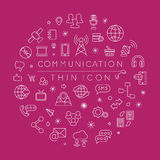 Set komunikacyjne ikony Obrazy Stock