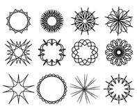 Set konturowi spirografy Kurenda wzór ilustracji