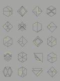 Set konturu abstrakta emblematy Obrazy Stock