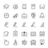 Set konturu uderzenia edukaci ikona zdjęcia royalty free