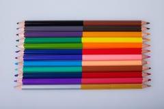 Set kopia barwił ołówki na białym tle obraz royalty free