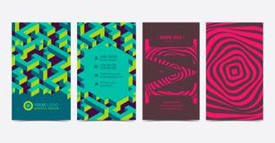 Set kopia popierał kogoś kreatywnie wizytówka projekta układu szablon royalty ilustracja