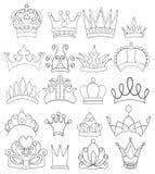 Set koron i tiar Kreskowa sztuka Fotografia Stock