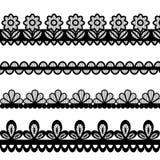 Set koronkowe wektorowe granicy Obraz Stock