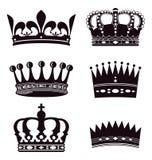 Set korony royalty ilustracja