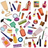 Set Kosmetik Stockfotos