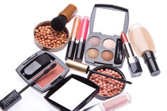 Set kosmetische kosmetische Produkte Stockfotografie