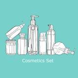 Set kosmetyki dla skóry opieki Obraz Royalty Free