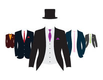 Set kostiumy royalty ilustracja