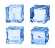 Set kostki lodu na białym tle Zdjęcie Royalty Free