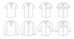 Set koszula guzik w górę bluzek ilustracji